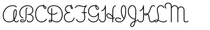 Gimbel Script Font UPPERCASE