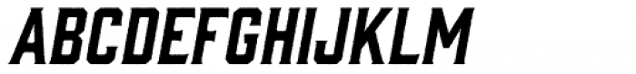Gin Rough Oblique Font UPPERCASE