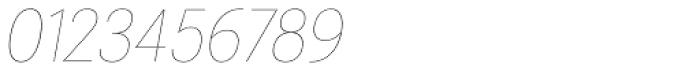 Gina Thin Italic Font OTHER CHARS
