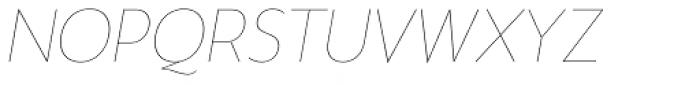 Gina Thin Italic Font UPPERCASE