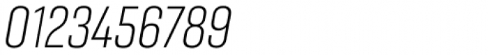 Gineso Condensed Thin Italic Font OTHER CHARS