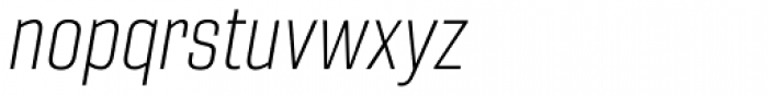 Gineso Condensed Thin Italic Font LOWERCASE