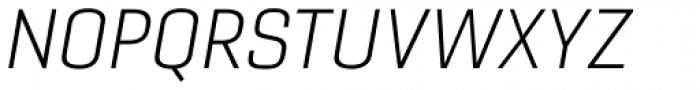 Gineso Extended Light Italic Font UPPERCASE