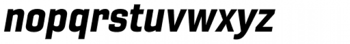 Gineso Normal Black Italic Font LOWERCASE