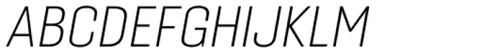 Gineso Normal Thin Italic Font UPPERCASE