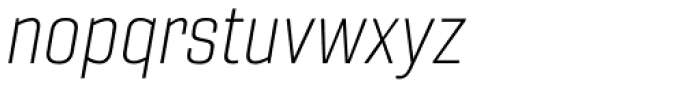 Gineso Normal Thin Italic Font LOWERCASE