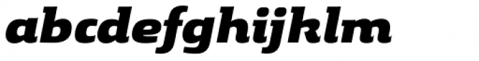 Gingar Heavy Italic Font LOWERCASE