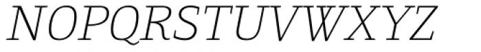 Gingar Thin Italic Font UPPERCASE