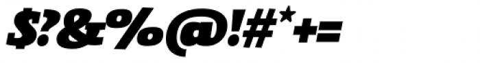Gingar UltraBlack Italic Font OTHER CHARS