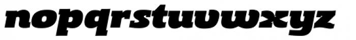 Gingar UltraBlack Italic Font LOWERCASE
