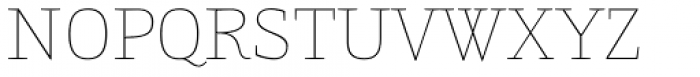 Gingar UltraLight Font UPPERCASE