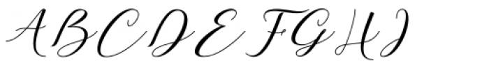 Girl Love Script Font UPPERCASE