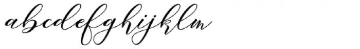 Girl Love Script Font LOWERCASE