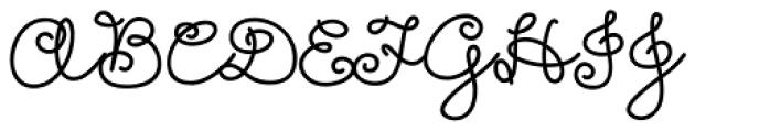 Girl Script Font UPPERCASE