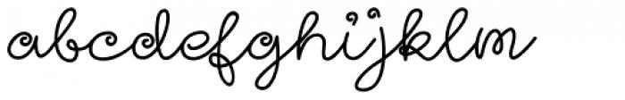 Girl Script Font LOWERCASE
