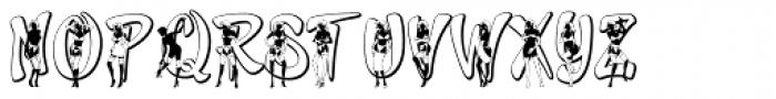 Girls Girls Girls Naughty Font UPPERCASE