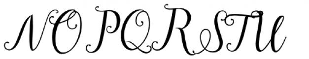 Girlstory Script Regular Font UPPERCASE