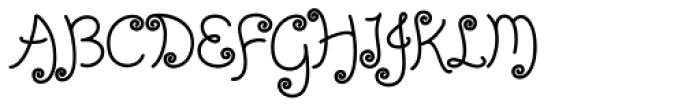 Girltalk Font UPPERCASE