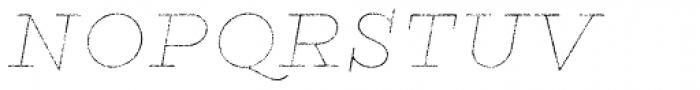 Gist Rough Black Line Font UPPERCASE