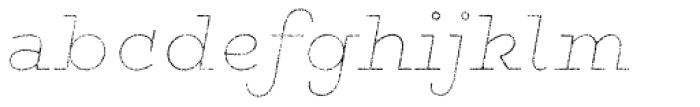 Gist Rough Black Line Font LOWERCASE