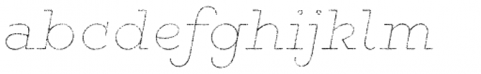 Gist Rough Bold Line Font LOWERCASE