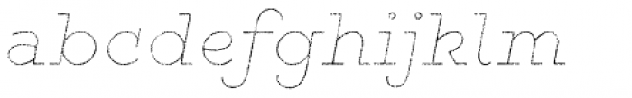 Gist Rough Exbold Line Font LOWERCASE