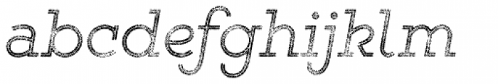 Gist Rough Light Three Font LOWERCASE