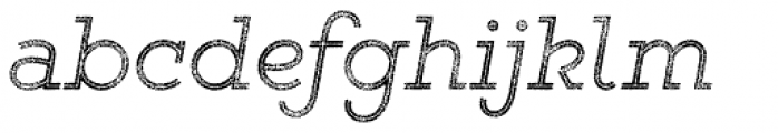 Gist Rough Light Two Font LOWERCASE