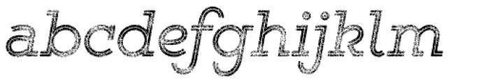 Gist Rough Reg Three Font LOWERCASE