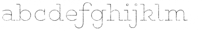 Gist Rough Upr Exbold Line Font LOWERCASE