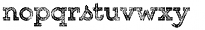 Gist Rough Upr Exbold Three Font LOWERCASE