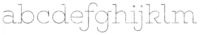 Gist Rough Upr Light Line Font LOWERCASE