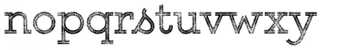 Gist Rough Upr Reg Three Font LOWERCASE