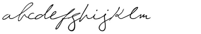 Giuliano Handwriting Font LOWERCASE