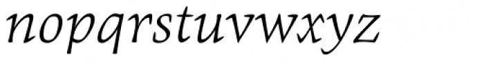 Givens Antiqua Pro Light Italic Font LOWERCASE