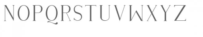 Githa Lovely Serif Font UPPERCASE