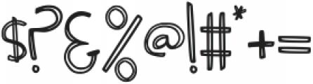 GJHuckleberry Regular otf (400) Font OTHER CHARS