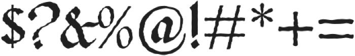 Gladstone Street otf (400) Font OTHER CHARS