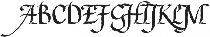 Gladstone Street otf (400) Font UPPERCASE