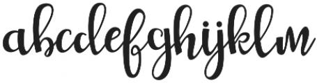 Gladysta otf (400) Font LOWERCASE