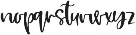 Glam Pastry otf (400) Font LOWERCASE