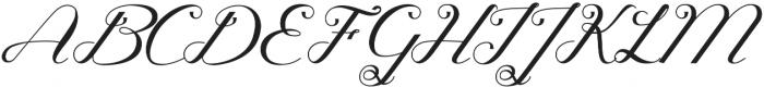 Glamoury Regular otf (400) Font UPPERCASE