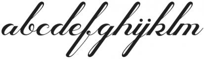 Glamoury Regular otf (400) Font LOWERCASE