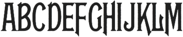 Glenfield Rough otf (400) Font UPPERCASE