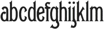 Glenfield Rough otf (400) Font LOWERCASE