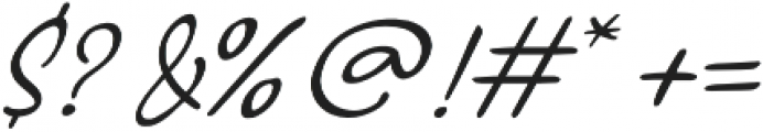 Glimmer Script Regular otf (400) Font OTHER CHARS