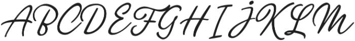 Glimmer Script Regular otf (400) Font UPPERCASE