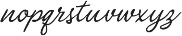 Glimmer Script Regular otf (400) Font LOWERCASE
