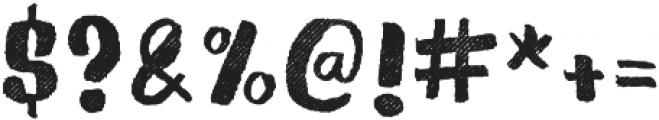 Gliny Brush Rasp otf (400) Font OTHER CHARS