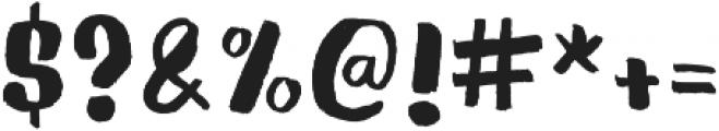 Gliny Brush otf (400) Font OTHER CHARS